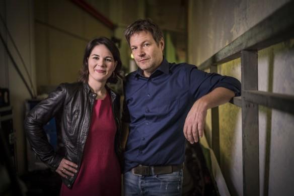 Traute Einheit: Annalena Baerbock und Robert Habeck Foto: Dominik Butzmann/Die Grünen