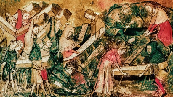Die Pest in Tournai 1349 Quelle: Bridgeman Images