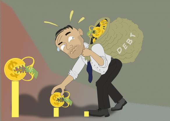 Nichts als Schulden Foto Rilsonav auf pixabay