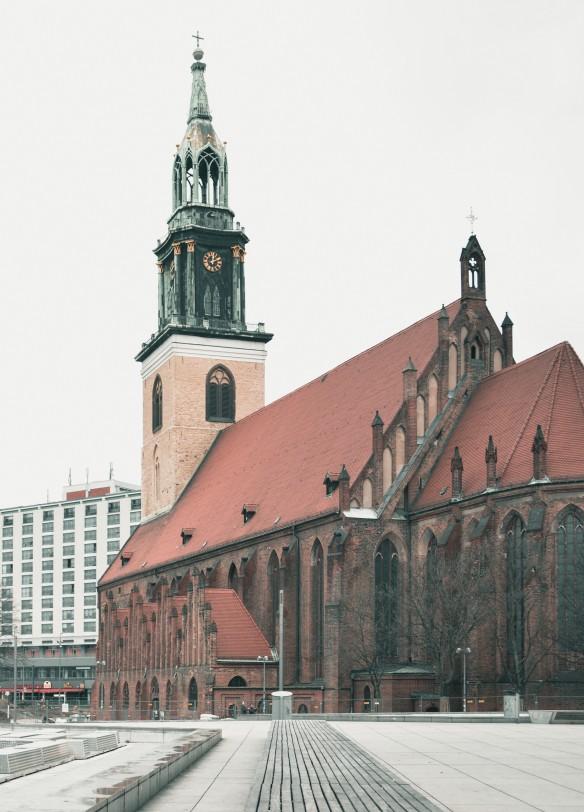 Die Marienkirche in Lübeck– die Börse ist gleich daneben