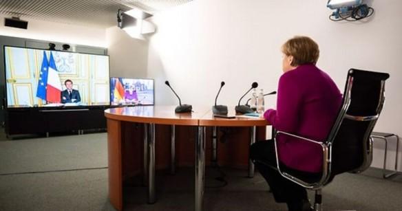Das neue Dream-Team: Emmanuel Macron und Angela Merkel Foto Bundesregierung